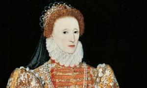 Portrait of Elizabeth I of England, oil on panel, circa 1575, National Gallery.