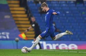 Timo Werner thumps home Chelsea's fourth.