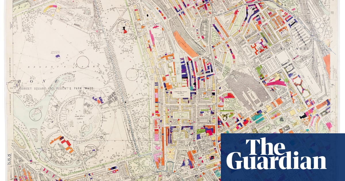 The meticulously hand-coloured bomb damage maps of London