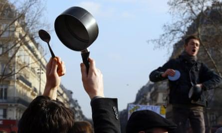 Activists protest against corruption in politics.