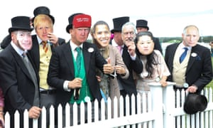 'Boris Johnson' is one of a number of world leaders, past and present, at Ascot…