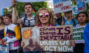 School climate strike protests in London
