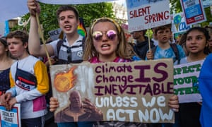 Students protest in London and over 100 locations in the UK in the global climate strike against lack of action by governments worldwide to combat the climate crisis