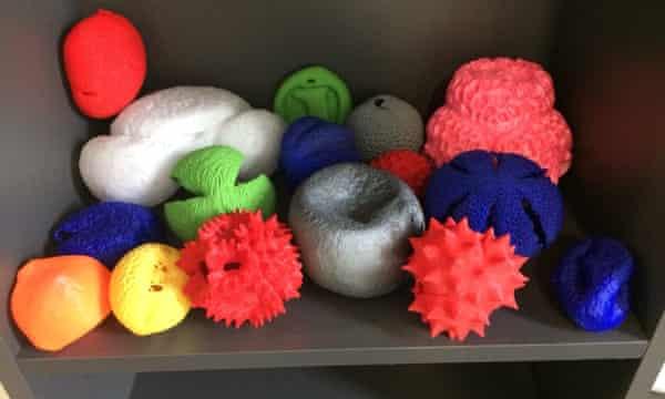 A selection of 3D pollen models.