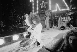 Bolan with T Rex at the Sundown, Edmonton, London in December 1972.