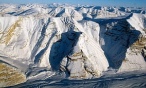 Glaciers on Canada's Ellesmere Island on 1 April 2014.