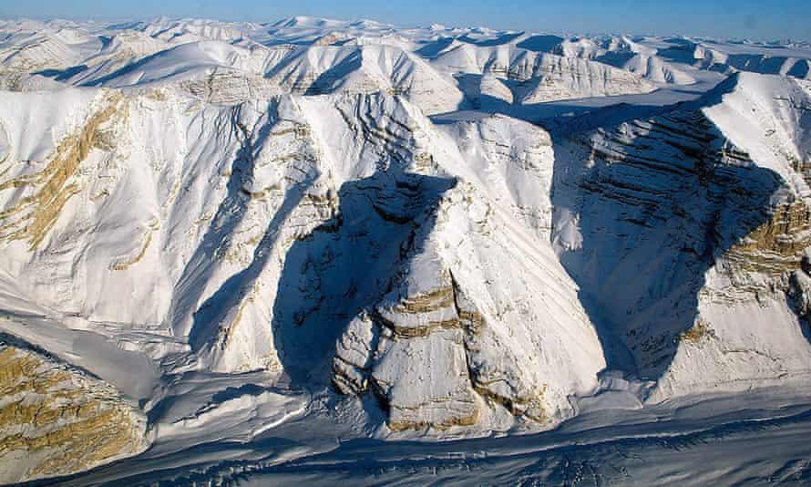 Glaciers on Canada's Ellesmere Island on 1 April 2014.