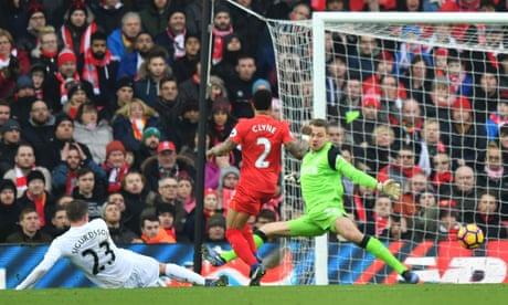 Jürgen Klopp bemoans Liverpool's 'passive' defence after Swansea loss