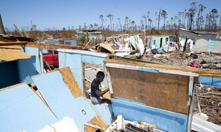 A destroyed home in Great Abao, Bahamas, on 9 September.