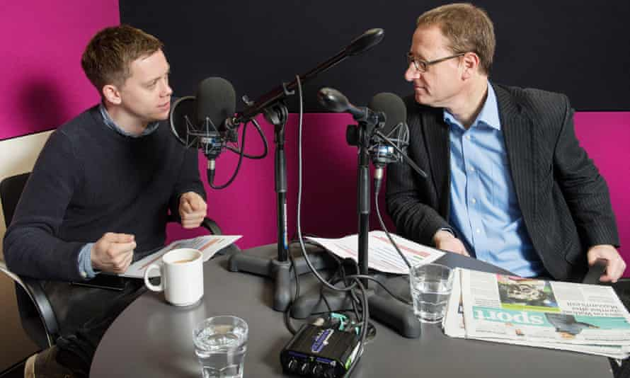 The Hlcarpenter.com's Owen Jones and Jonathan Freedland record a politics podcast.