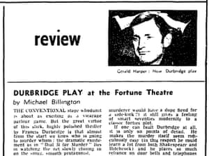 Michael Billington's first Guardian review, on 2 October 1971