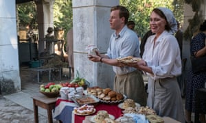 The spotted dick solution ... Callum Woodhouse as Leslie and Keeley Hawes as Louisa in The Durrells. Photograph: ITV