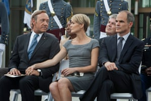 Kevin Spacey and Robin Wright in the US House Of Cards.