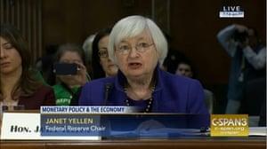 Yellen testfies in Congress