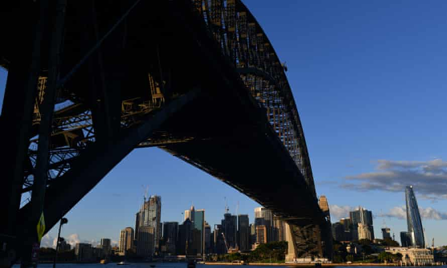The Sydney Skyline and Harbour Bridge