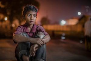 Ramjan, 11, at Kamalapur train station