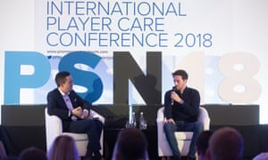 Ryan Mason at International Player Care conference in London