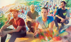 Coldplay (left to right): Jonny Buckland, Will Champion, Chris Martin and Guy Berryman