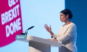 Home secretary Priti Patel speaking at the Conservative party conference in Manchester earlier this month.