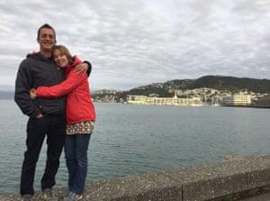Richard and Kate Harding in Wellington, New Zealand, 2017.