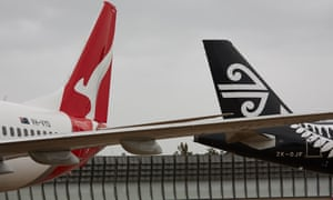 Qantas and Air New Zealand planes at Sydney airport