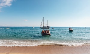 Boat heading for Gjipe beach