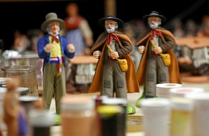 Santons, the typical figurines from Provence, are displayed at the Marcel Carbonel's Santon factory