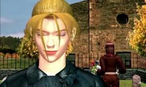 The graveyard scene ending in Tekken 2.