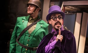 Deliciously mischievous … Marc Pickering as Dr Gloom, right, with Carl Mullaney as General Blight.
