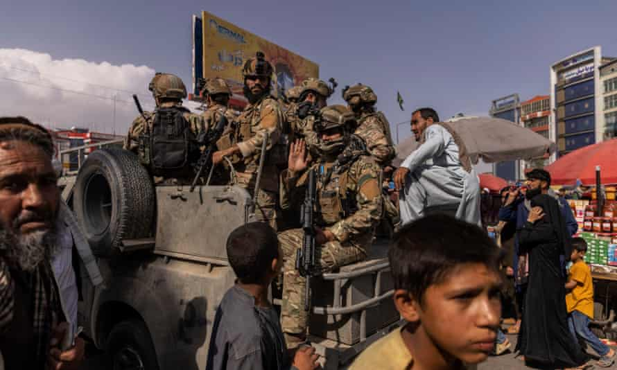 A Taliban elite unit on the streets of Kabul on Friday