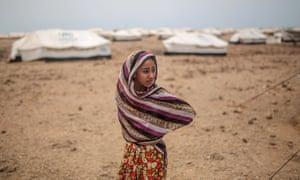 Ashwaq, 12, at the Markaze refugee camp in Obock, northern Djibouti