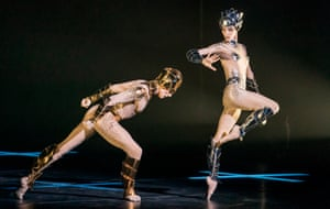 Edward Watson and Olga Smirnova in McGregor + Mugler at the London Coliseum.