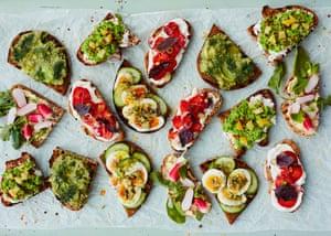 What a spread! Anna Jones's quick toast fixes.