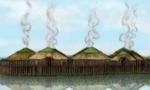 Probable construction of the Must Farm stilt houses.