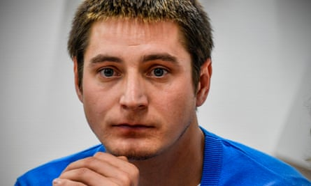 Maxim Lapunov, 30, at a press conference in Moscow on 16 October  2017, described his detention and torture by police during a crackdown on gay men in Chechnya