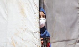 A Syrian girl at a refugee camp in Idlib