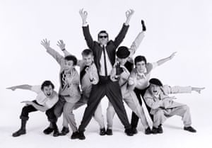 Chas Smash, third left, with Madness, 198.