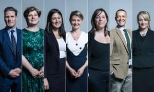 Keir Starmer, Emily Thornberry, Lisa Nandy, Yvette Cooper, Jessica Phillips, Clive Lewis, Rebecca Long Bailey