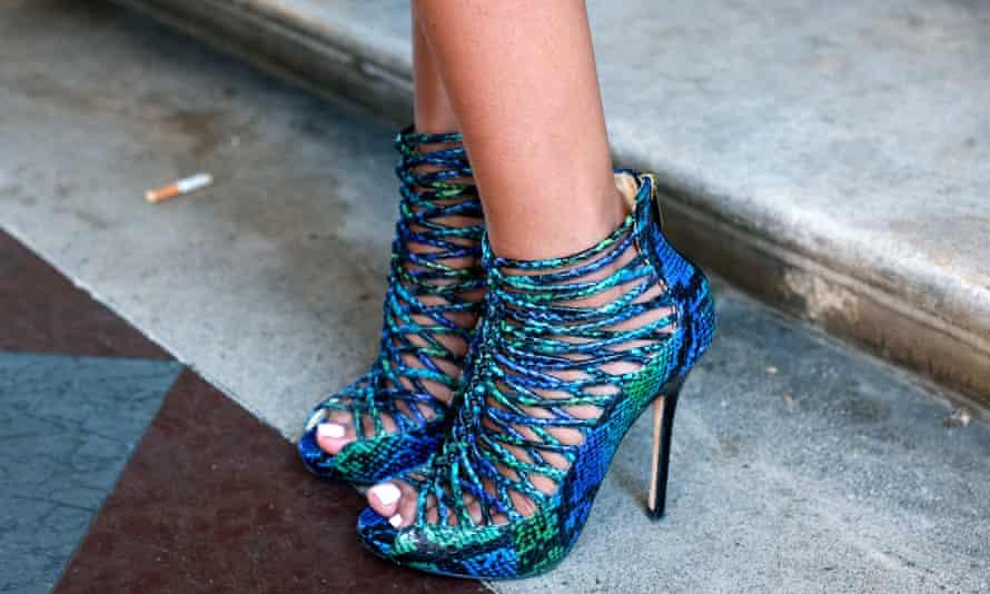 A pair of Jimmy Choo stilettos