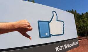 A snap from outside Facebook's headquarters