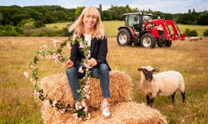 Cheerful … Sara Cox presents Love in the Countryside.
