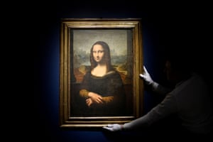A 17th-century copy of the Mona Lisa at Sotheby's in Paris, France