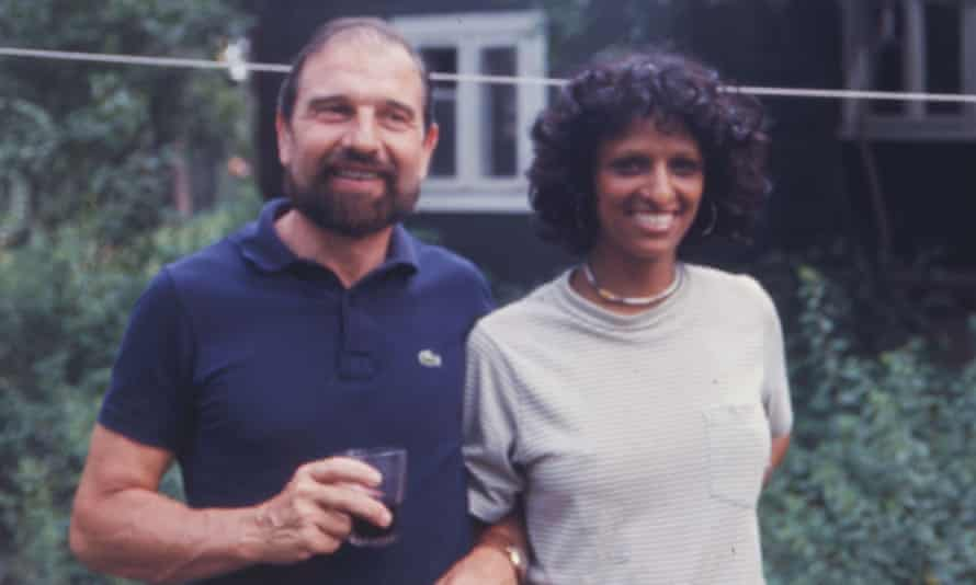 The British spy George Blake with Nishia Philby, a daughter-in-law of Kim Philby.