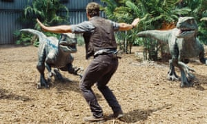 Chris Pratt controls Jurassic World's raptors – with moves taught by Randy Miller.