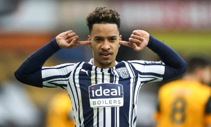 West Brom's Matheus Pereira celebrates his second penalty against Wolves.