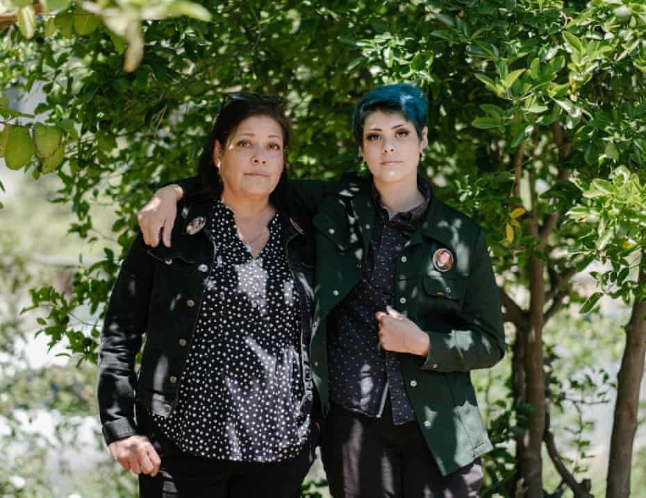 DeAnna Sianez Sullivan and Sam Sullivan, the mother and sister of David Sullivan, a 19-year-old who was killed by Buena Park police in Orange county.