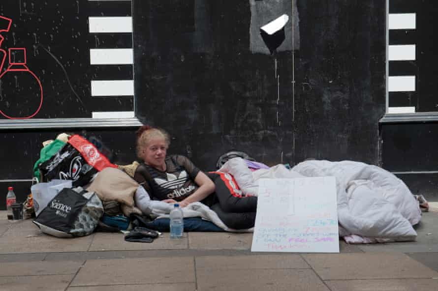 A 27-year-old woman who has been living on the streets of Cambridge for eight months