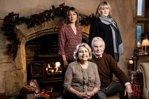Nicola Walker, Anne Reid, Derek Jacobi and Sarah Lancashire in Last Tango in Halifax.