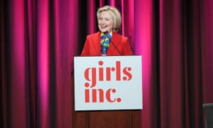 Hillary Clinton speaks at the 2017 Girls Inc New York luncheon on 7 March.