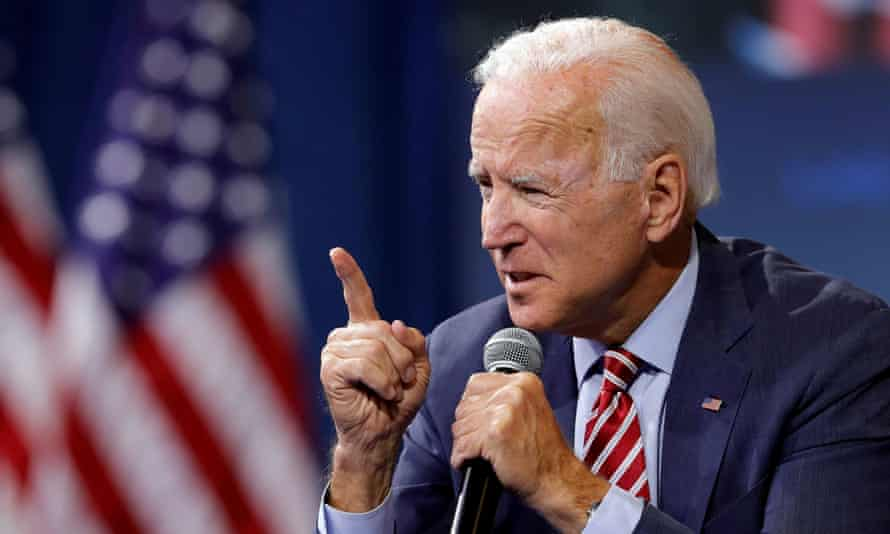 Biden has a healthy lead in national polls of the Democratic presidential field.
